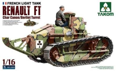01003 - French Light Tank Renault FT Char Canon/Berliet Turret 1/16