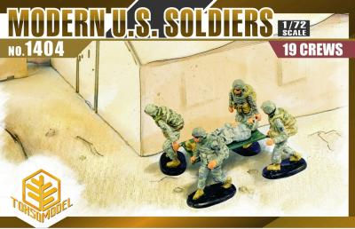 1404 - Modern US Soldiers 1/72