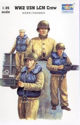 00408 - LCM-3 Landing Craft USN Crew figures WWII