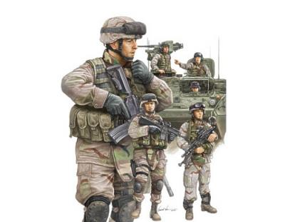 00424 - Modern U.S. Army Armour Crew and Infantry Set
