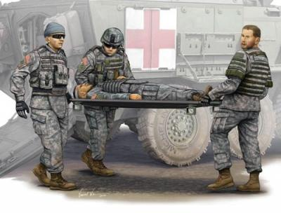00430 - Modern U.S. Army Stretcher Ambulance Team