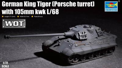 07161 - Pz.Kpfw.VI King Tiger (Porsche Turret) 105mm kwk L/68 1/72