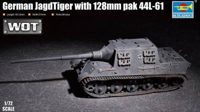 07165 - German JagdTiger 128mm pak44 L/61 1/72