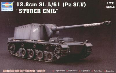 07210 - 12.8cm Sf L/61 (Pz.Sf.V) 'Sturer Emil' 1/72