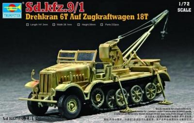 07251 - Sd.Kfz.9/1 Famo 18T with Bilstein crane (Late) 1/72