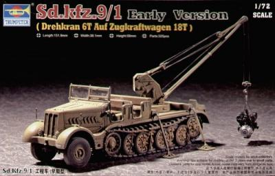 07253 - Sd.Kfz.9/1 Famo 18T with Bilstein crane (Early) 1/72