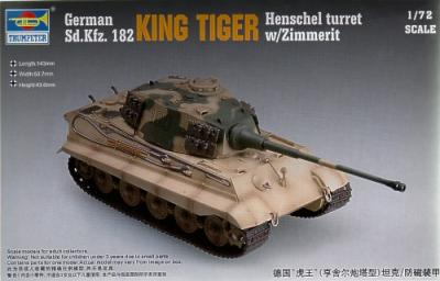 07291 - King Tiger Sd.Kfz.182 Henschel turret with Zimmerit 1/72