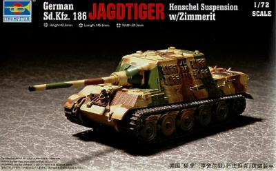 07293 - German Sd.Kfw.186 Jagdtiger Henschel Suspension with Zimmerit 1/72