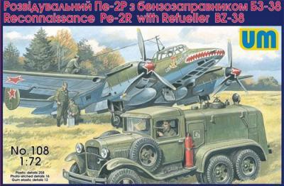 108 - Petlyakov Pe-2R Reconnaissance with Refueller BZ-38 1/72
