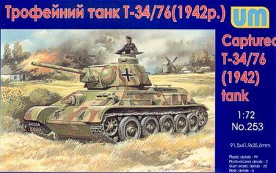 253 - Russian T-34/76 1942 captured tank 1/72