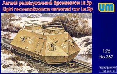 257 - Light reconnaissance armoured car Le.Sp 1/72