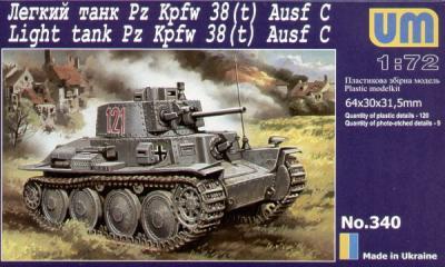 340 - Pz.Kpfw.38(t) Ausf.C 1/72