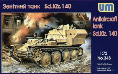 348 - Sd.Kfz.140 anti-aircraft tank 1/72