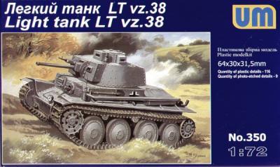 350 - Lt vz.38 light tank 1/72