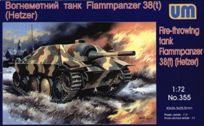 355 - Hetzer Flammpanzer 38 1/72