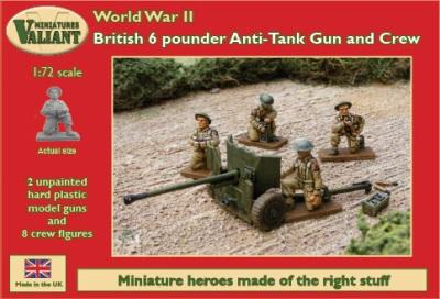 VM009 - British 6pdr Anti Tank Gun and Crew 1/72
