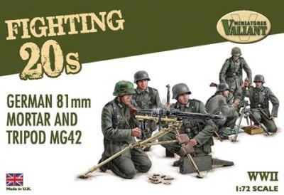 VMFT002 - Germany tripod MG42 machine guns and 81mm mortars 1/72