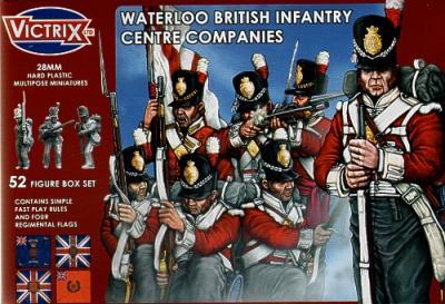 VX0001 - Waterloo British Infantry Centre Companies 28mm