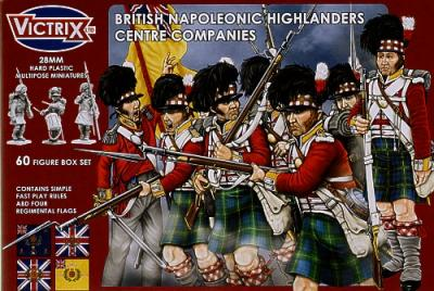 VX0006 - British Napoleonic Highlander Centre Companies 28mm