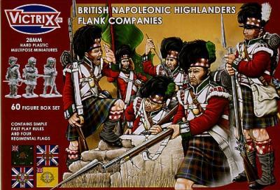 VX0007 - British Napoleonic Highlander Flank Companies 28mm