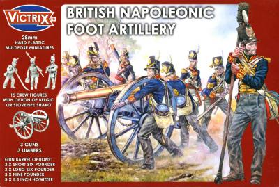 VX0010 - British Napleonic Foot Artillery 28mm