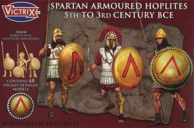 VXA002 - Spartan Armoured Hoplites 5th to 3rd Century BCE 28mm