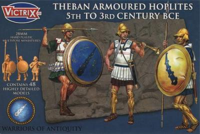 VXA003 - Theban Armoured Hoplites 5th to 3rd Century BCE 28mm