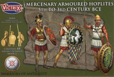 VXA004 - Mercenary Armoured Hoplites 5th to 3rd Century BCE 28mm