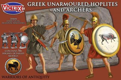 VXA005 - Greek unarmoured Hoplites and archers 28mm