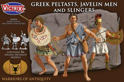 VXA006 - Greek Peltasts, Javelin men and slingers 28mm