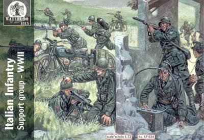 AP034 - WW2 Italian Infantry Support Group 1/72