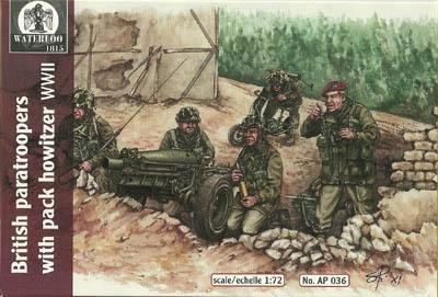 AP036 - British Paratroopers with Pack Howitzer 1/72