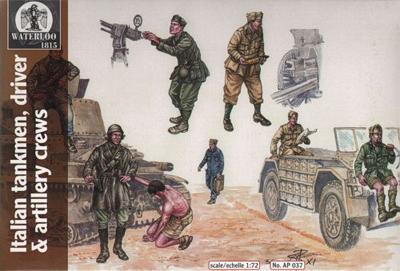 AP037 - WW2 Italian Tank, Vehicle and Artillery Crews 1/72