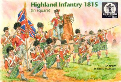 AP039 - Highland Infantry 1815 in Square 1/72