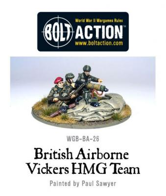 British Para Vickers HMG & Crew