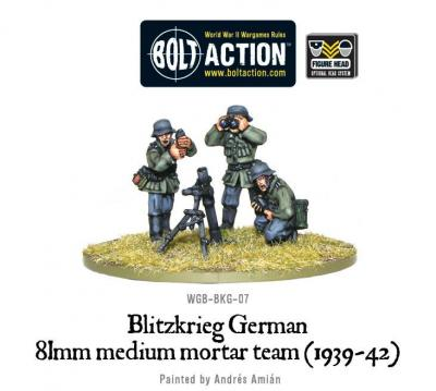 Blitzkrieg German 81mm Medium Mortar team (1939-42)