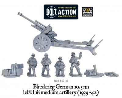 Blitzkrieg German leFH 18 10.5cm howitzer (1939-42)