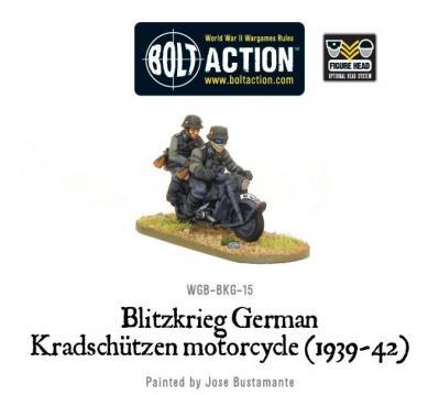 Blitzkrieg German Kradschutzen Motorcycle (1939-42)