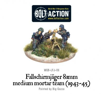 Fallschirmjager 81 Medium Mortar team (1943-45)