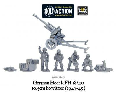 Late War German 105mm Gun & Crew