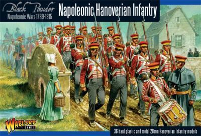 Napoleonic Hanoverian Line Infantry plastic boxed set