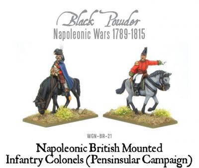 Mounted Napoleonic British Infantry Colonels (Pensinsular Campaign)