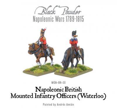 Mounted Napoleonic British Infantry Colonels (Waterloo)