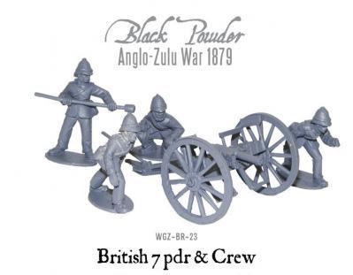 British 7 pdr Gun & Crew