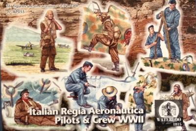 AP055 Italian Regia Aeronautica Pilots and Ground Grew (WWII)1/72 (x 16 figures)