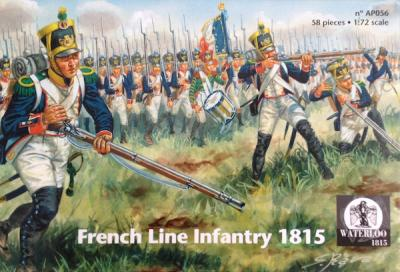 AP056 French Line Infantry 1815 x 58 pieces 1/72