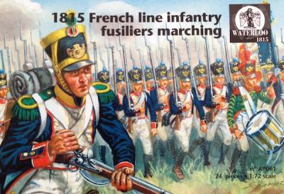 AP061 1815 French Line Infantry Fuseliers marching 1/72