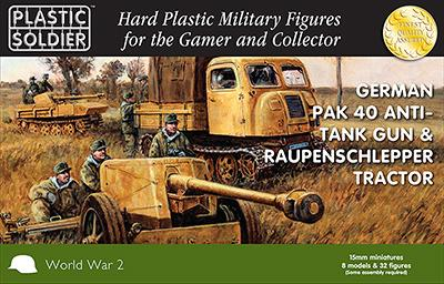 WW2G15004 - Pak 40 & Raupenschlepper Tractor 15mm