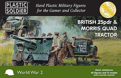 WW2G15005 - British 25pdr & Morris quad Tractor 15mm