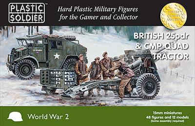 WW2G15006 - British 25pdr gun & CMP Quad tractor 15mm